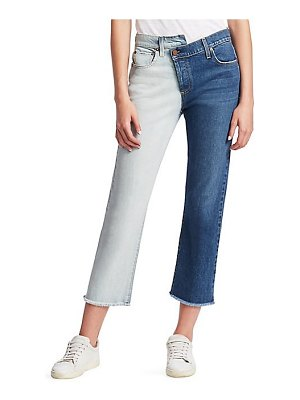 AO.LA by alice + olivia two-tone reconstructed boyfriend jeans
