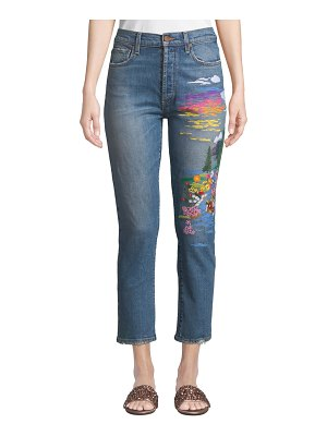 AO.LA by Alice+Olivia Amazing High-Rise Slim Girlfriend Jeans