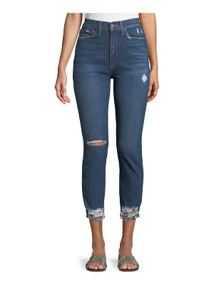 AO.LA by Alice+Olivia Good High-Rise Destroyed Skinny Jeans