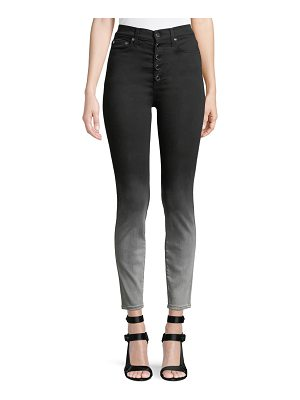 AO.LA by Alice+Olivia Good High-Rise Faded Skinny Jeans with Exposed Fly