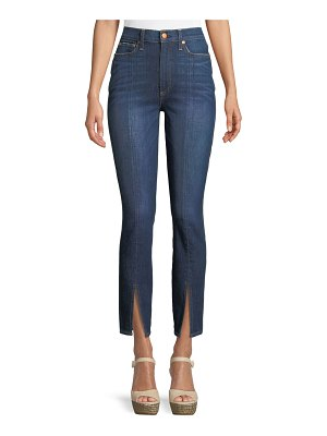 AO.LA by Alice+Olivia Good High-Rise Front-Split Skinny Jeans