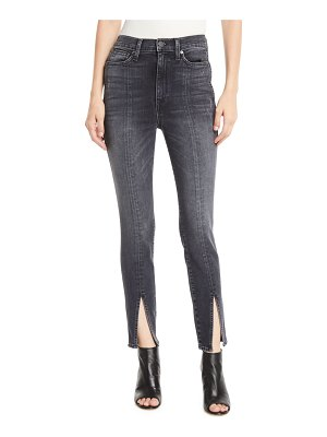 AO.LA by Alice+Olivia Good High-Rise Skinny Jeans with Front Slit