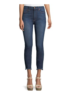 AO.LA by Alice+Olivia Good High-Rise Skinny Jeans with Staggered Hem