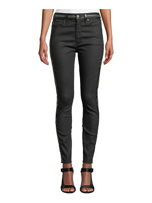 AO.LA by Alice+Olivia Good High-Rise Studded Ankle Skinny Jeans
