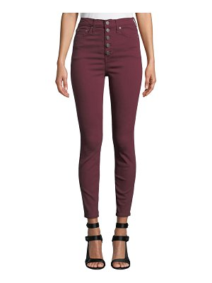AO.LA by Alice+Olivia Good High-Rise Twill Skinny Jeans with Exposed Fly