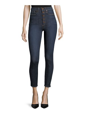 AO.LA by Alice+Olivia High-Rise Exposed Buttons Skinny Jeans