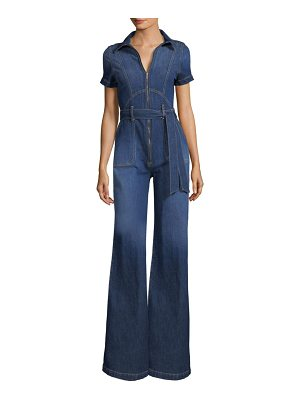 AO.LA by alice + olivia gorgeous collar wide-leg jumpsuit