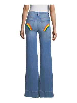 AO.LA by alice + olivia gorgeous high-rise flare jeans