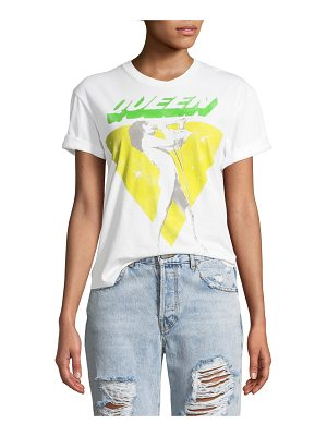 AO.LA by Alice+Olivia Shira Queen Roll-Sleeve Graphic Tee
