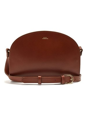 A.P.C. half moon leather cross body bag