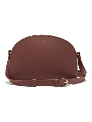 A.P.C. A.p.c. - Half Moon Saffiano Leather Cross Body Bag