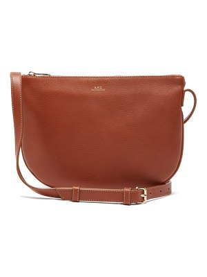 A.P.C. maelys half moon leather cross body bag
