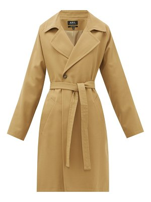 A.P.C. bakerstreet belted twill coat