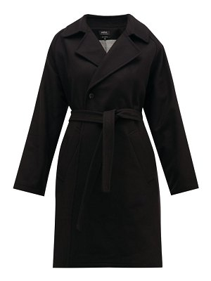 A.P.C. bakerstreet belted wool blend trench coat