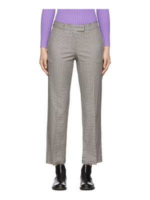 A.P.C. black and white cece trousers