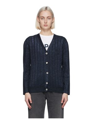 A.P.C. black metallic azalea cardigan