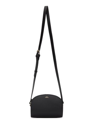 A.P.C. black mini demi-lune bag