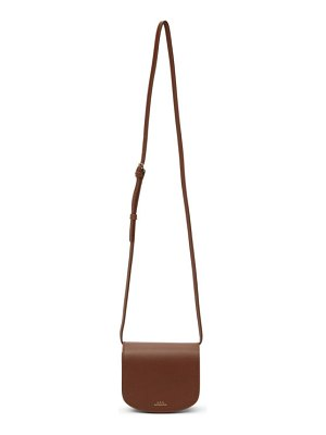 A.P.C. brown mini dina bag