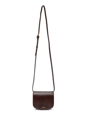 A.P.C. burgundy lizard mini dina bag