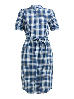 A.P.C. clea checked shirtdress