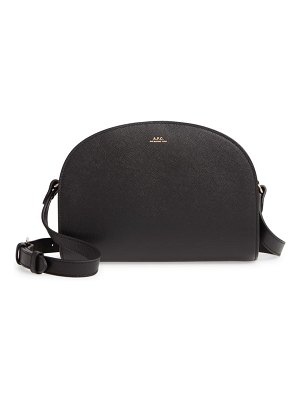 A.P.C. demi lune embossed leather crossbody bag