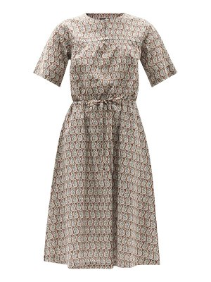 A.P.C. elie paisley-print cotton midi dress