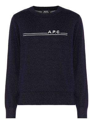 A.P.C. eponyme cotton and cashmere sweater