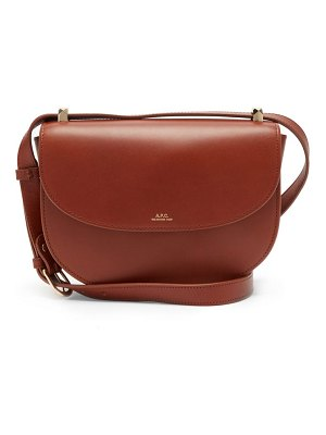 A.P.C. genève cross-body smooth-leather bag