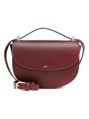 A.P.C. genève leather shoulder bag