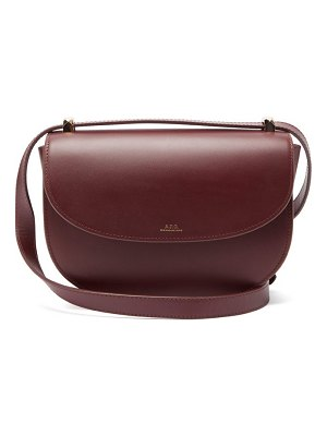 A.P.C. genève smooth-leather cross-body bag