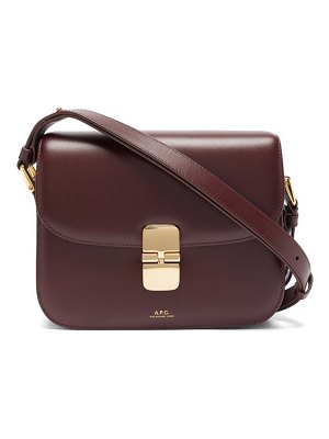A.P.C. grace large smooth-leather cross-body bag