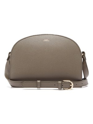 A.P.C. half moon grained leather cross body bag