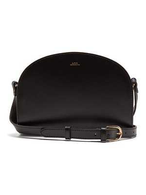 A.P.C. half moon smooth leather cross body bag