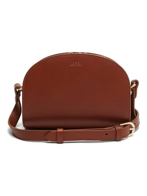 A.P.C. half moon mini smooth leather cross body bag