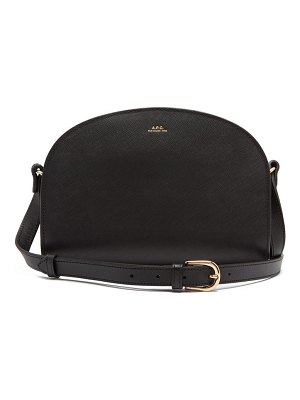 A.P.C. half moon saffiano-leather cross-body bag