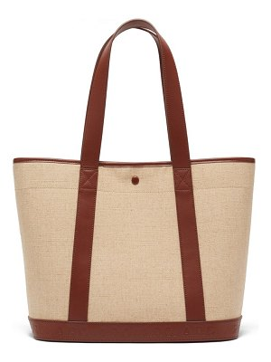 A.P.C. helene leather-trimmed canvas tote bag