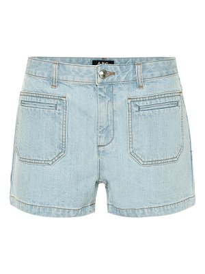A.P.C. high-rise denim shorts