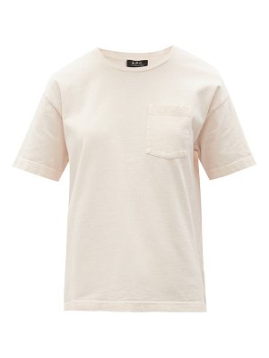 A.P.C. hope logo-embroidered cotton-jersey t-shirt
