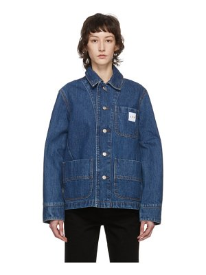 A.P.C. indigo carhartt wip edition talk denim jacket