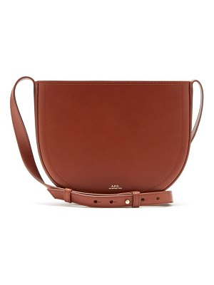 A.P.C. juliette half moon leather cross body bag
