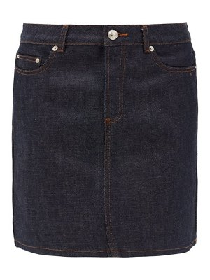 A.P.C. jupe standard raw-denim mini skirt