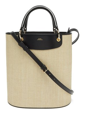 A.P.C. lila leather-trimmed canvas bucket bag