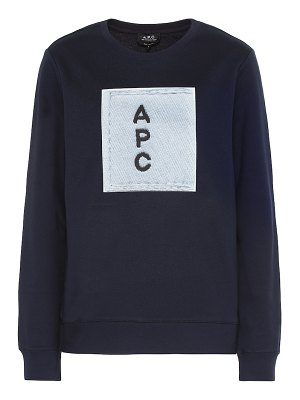A.P.C. logo cotton sweatshirt