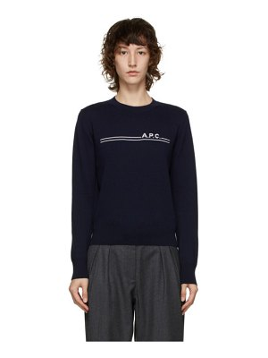 A.P.C. navy eponyme sweater