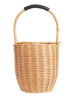 A.P.C. panier jeanne wicker basket bag