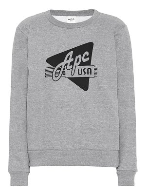 A.P.C. printed cotton-blend sweatshirt