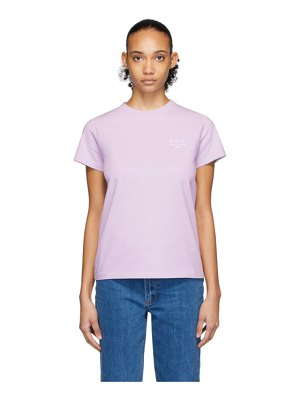 A.P.C. purple denise t-shirt