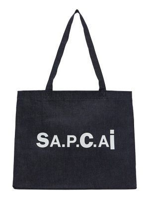 A.P.C. reversible navy sacai edition candy tote