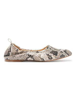 A.P.C. rosa python-embossed leather ballet flats