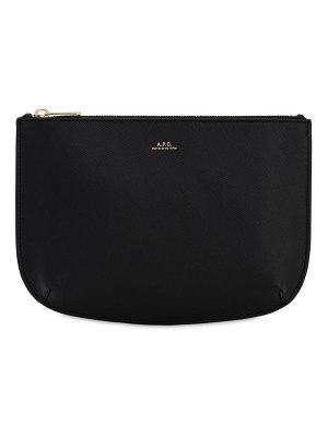 A.P.C. Sarah grained leather pochette